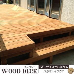 ウッドデッキ セット 木材 天然木 DIY キット デッキセット イタウバ 1200×3600mm interior-depot