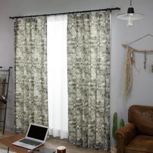 カーテン 既製サイズ 幅100cm 丈は105cm 135cm 178cm 200cm 210cmの5サイズから選べる YH987 ネージュ[2枚組]|interior-depot|06