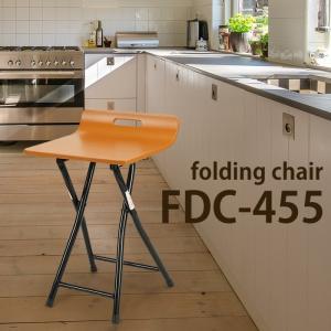 フォールディングチェア 2脚セット 折りたたみ ロック機能付き ブラウン 椅子 カウンターチェア|interior-festa