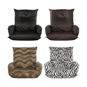 肘付HB座椅子 / 高級感 PUレザー生地 ボア素材アニマル柄|interior-festa