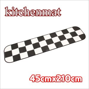 キッチンマット 白黒市松模様 東リ クッションフロア 約45cmX210cm interior-fuji
