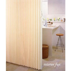 アコーディオン カーテン 間仕切り ニチベイ  やまなみマーク2 マーム・セダー 幅 54〜90cmX高さ 141cm〜180cmまで|interior-fuji