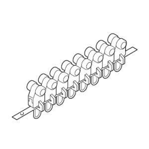 カーテンレール 部品 TOSO 連結Cランナー(8ケ連結) 部品販売|interior-fuji