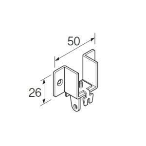 カーテンレール 部品 TOSO ニューリブ 部品販売 壁面ブラケットA ナチュラル|interior-fuji