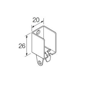 カーテンレール 部品 TOSO ニューリブ 部品販売 壁面ブラケットB ナチュラル|interior-fuji