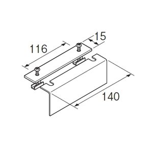 カーテンレール 部品 TOSO ニューリブ 部品販売 片カーブ止め金具B ホワイト|interior-fuji
