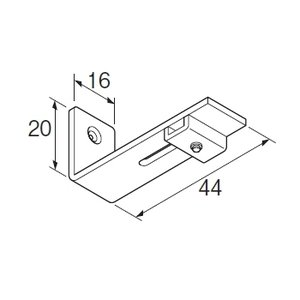 カーテンレール 部品 TOSO ニューリブ 部品販売 シングルブラケット ナチュラル interior-fuji