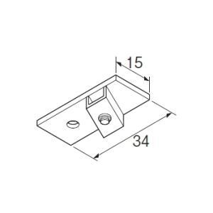 カーテンレール 部品 TOSO ニューリブ 部品販売 天井付シングルブラケットA ホワイト interior-fuji