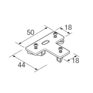 カーテンレール 部品 TOSO ニューリブ 部品販売 T型止め金具 interior-fuji