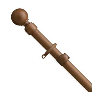 カーテンレール シングル TOSO ローレット木目25 2.1m シングルAセット|interior-fuji