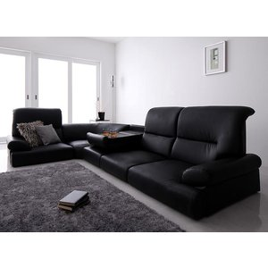 ソファ シンプルモダンシリーズ【BLACK】ブラック ハイバックこたつフロアコーナーソファ ソファー 5点セット|interior-miyabi