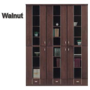 本棚 書棚 北欧 扉 完成品 幅135cm 開梱設置無料|interior-moka224|02