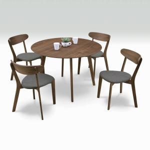 ダイニングテーブルセット 4人用 5点セット 丸テーブル ダイニングセット interior-moka224