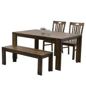 ダイニングテーブルセット アジアン ベンチ 4人用 4点セット interior-moka224