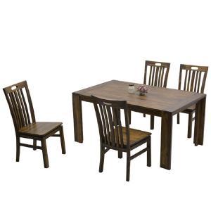 ダイニングテーブルセット アジアン 4人用 5点セット interior-moka224