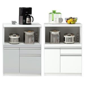 キッチンカウンター 幅70cm 完成品 収納 食器棚 レンジ台 間仕切り 国産|interior-moka224