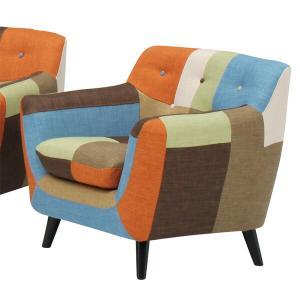 ソファー 一人掛けソファ 1Pソファ カラフル かわいい おしゃれ ファブリック|interior-moka224