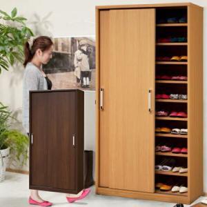 下駄箱 シューズボックス 靴箱 幅92cm 引き戸 靴収納 日本製 大容量
