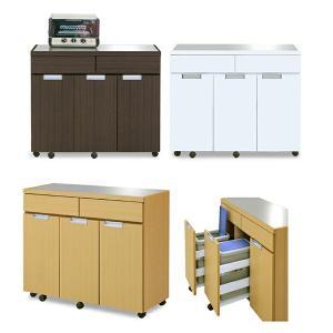 ダストボックス キッチンカウンター キッチン収納 ゴミ箱 100cm 完成品 国産 interior-moka224