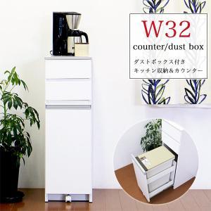 ダストボックス キッチンカウンター スリム 隙間収納 日本製 国産 interior-moka224