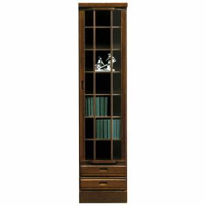 本棚 書棚 ブックシェルフ スリム 幅45cm 完成品 扉付き 薄型 北欧 interior-more
