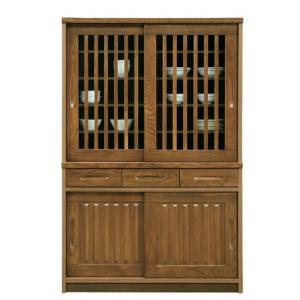 食器棚 和風 完成品 幅120cm 引き戸 開梱設置付き|interior-more