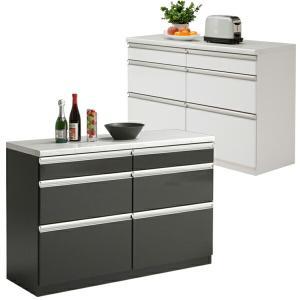 キッチンカウンター 完成品 幅120cm 間仕切り 収納 食器棚 レンジ台 国産 北欧|interior-more