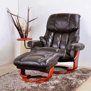 リクライニングソファー 一人用 パーソナルチェア 本革 革張り オットマン付き 全6色|interior-more