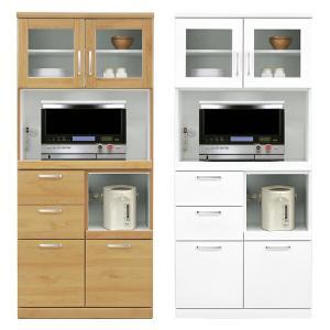 レンジボード 幅80cm 完成品 食器棚 レンジ台 国産 モイス付き ハイレンジボード|interior-more