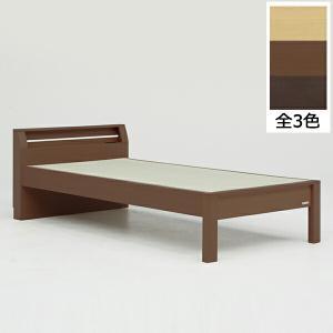 シングルサイズの畳ベッドです。携帯電話やメガネなどを置くのに便利な宮付き。  【サイズ】ベッドフレー...