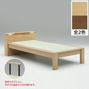 畳+すのこのシングルベッドです。便利なコンセント・照明・棚付き。オプションで手すりのご購入も可能。 ...