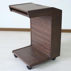 サイドテーブル ナイトテーブル シンプル キャスター付き 幅40cm|interior-more