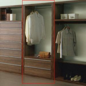 ワードローブ チェスト 服吊 幅80cm 引き出し 2段 おしゃれ|interior-more