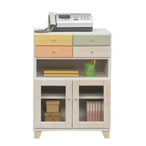ファックス台 電話台 幅60cm 開き戸 木製 モダン 引き出し 収納家具 完成品|interior-more