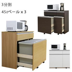 3色対応の3分別タイプのダストボックスです。大容量ふた付き45lペールで届いてすぐ使える完成品になっ...