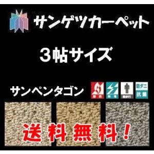 カーペット 3畳 じゅうたん ラグカーペット サンゲツカーペットサンペンタゴン 3帖サイズ  176cm×261cm|interior-myhouse