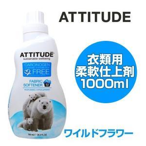 アティチュード 柔軟剤 濃縮タイプ ファブリックソフナー 1000ml 天然ミネラル ワイルドフラワー 自然な花の香り ( 柔軟仕上げ剤 無着色 )|interior-palette