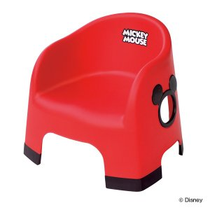 ベビー イス ミッキーマウス チェア 椅子 プラスチック製 日本製 ( ベビーチェア 赤ちゃん 子供 椅子 ディズニー キャラクター ミッキー )|interior-palette