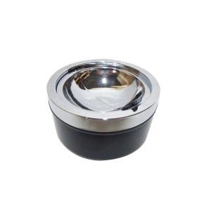 灰皿 プッシュ灰皿 プッシュ式 吸い殻入れ はいざら ( 卓上灰皿 アッシュトレイ フタ付き )|interior-palette