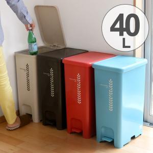 ゴミ箱 ふた付き ペダルペール 40L  ( ごみ箱 ダストボックス ダストBOX )