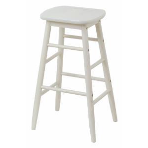 |特価|スツール 椅子 持ち手付 天然木 ine rino 座面高60cm ( イス チェア チェアー 木製 白家具 )|interior-palette