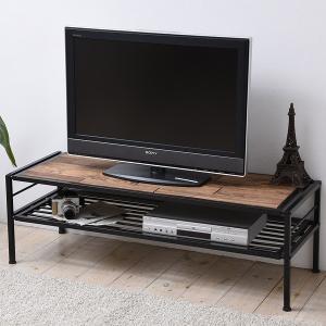 テレビ台 ローボード GRANT 天然木 スチールフレーム 幅120cm ( テレビボード TV台 TVボード AV収納 AVボード )|interior-palette