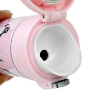 水筒 直飲み ワンタッチ栓 マグボトル 450ml ステンレス製 保温 保冷 ( 真空断熱 魔法瓶 すいとう スリム ステンレスボトル )|interior-palette|04