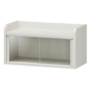 ミニカップボード ガラス引戸 フレンチカントリー調 チェローネ 幅56cm ( ガラスケース ショーケース 食器棚 キッチン収納 姫系 ホワイト )|interior-palette