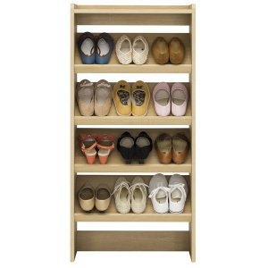 下駄箱 シューズラック ホノボーラ 薄型 オープン 幅約60cm ( 玄関収納 シューズボックス 靴 収納 開き戸 通気性 靴箱 木製 おしゃれ )|interior-palette|03