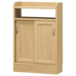 薄型キャビネット カウンター下収納 引戸 ナチュラル調 ホノボーラ 幅56cm ( スリム キャビネット キッチンカウンター 収納棚 北欧 ) interior-palette