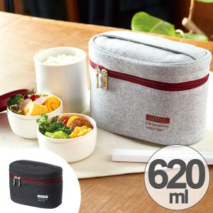 保温弁当箱 ランチジャー ステンレス製 ランタス 専用バッグ付 620ml 箸付き ( お弁当箱 ランチボックス 弁当箱 )|interior-palette