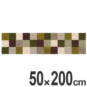 キッチンマット 200 50×200cm 滑り止め インテリアマット グリッドラグ ( キッチン マット 200cm カーペット ラグ )|interior-palette