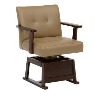 コタツチェア 肘付 回転座椅子 座面高2段階調節 幅56cm ( こたつ 炬燵 ハイタイプコタツ用 ダイニング ダイニングチェア 回転 高さ調節 )|interior-palette