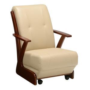 コタツチェア 肘付 座椅子 キャスター付 座面高36cm ( こたつ 炬燵 ハイタイプコタツ用 ダイニング ダイニングチェア 肘付き ) interior-palette